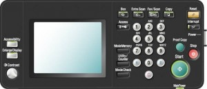 复印机维修模式面板
