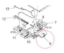 震旦ADC208纸盒传感器故障