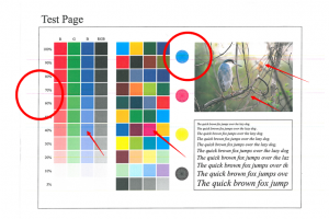 复印机正常打印有彩条